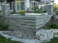 Retaining Wall in Siena Stone